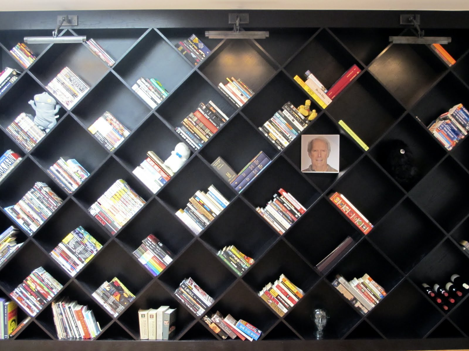Diagonal Bookcase Design Plans